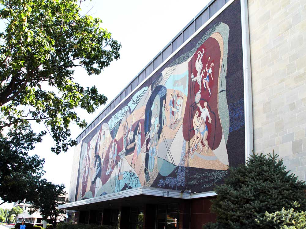 Pershing Auditorium Mural